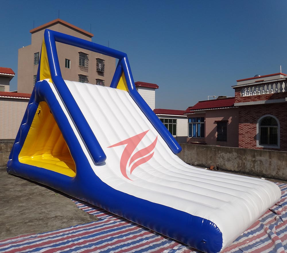 Inflatable Water Slides For Sale: Floating Lake Inflatable Water Park Slide For Sale