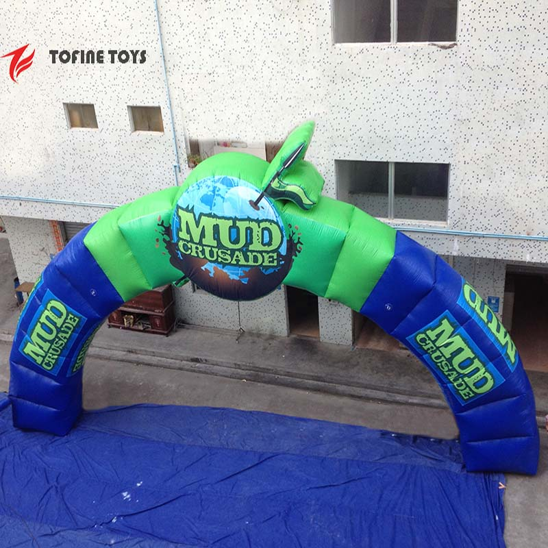 Special Shaped Giant Inflatable Archway For Advertising