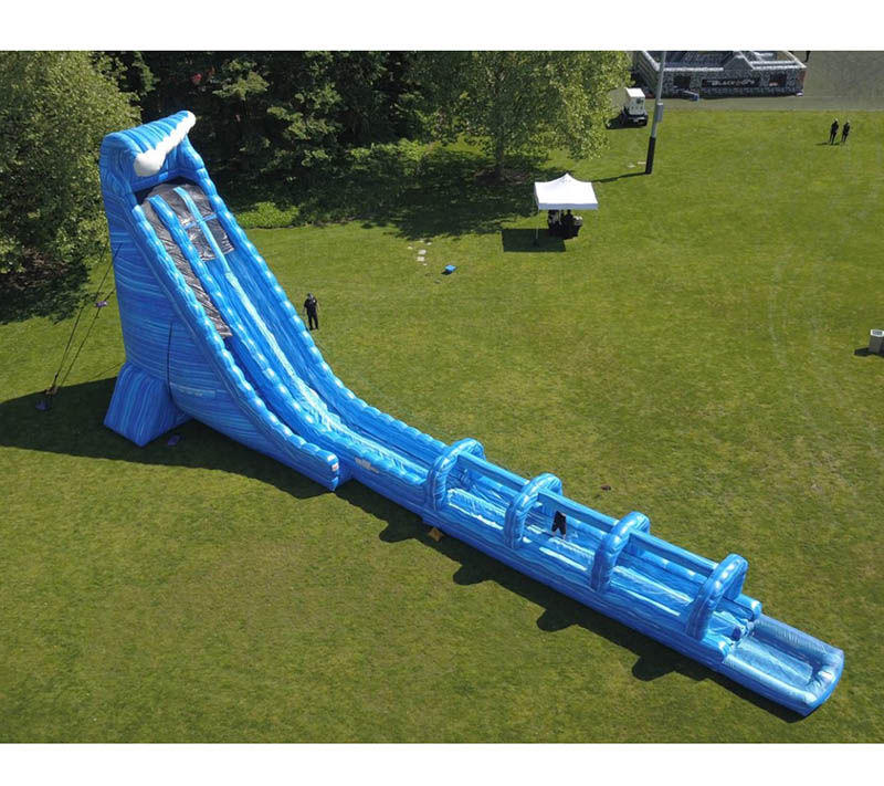 Inflatable Everest Slide: 100ft Long Blue Crush Extreme Water Slide Inflatable