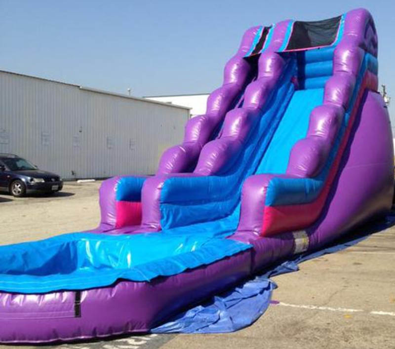 Inflatable Water Slide Tall: 18ft Tall Inflatable Purple Passion Water Slide With Pool