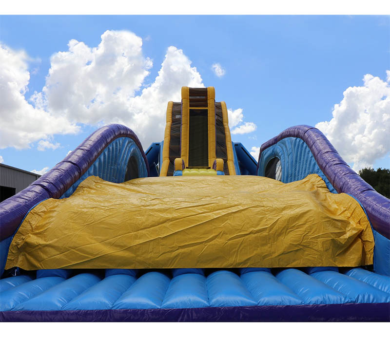 Inflatable Water Slide Tall: 42′ Tall Drop Kick Water Slide Giant Inflatable Free Fall