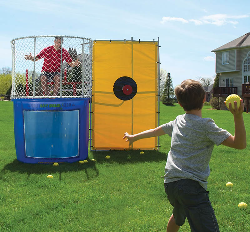 Adults Summer Water Game Inflatable Dunk Tank For Sale